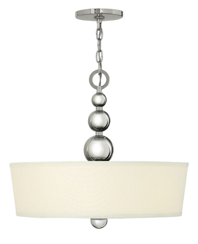 Hinkley Lighting 3444 3 Light Indoor Drum Pendant from the Zelda