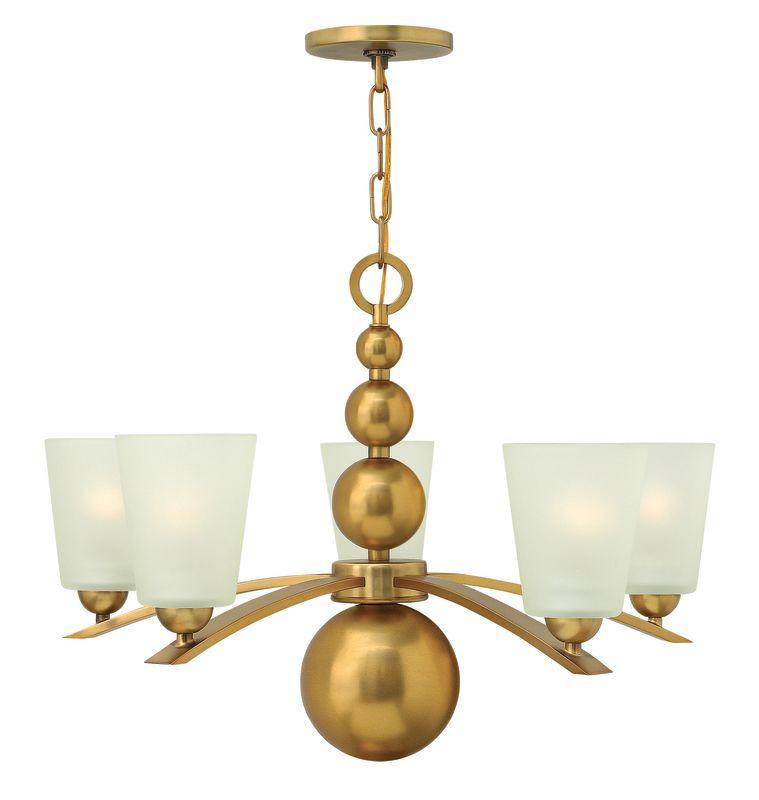 Hinkley Lighting 3445VS Vintage Brass Zelda 5 Light 1 Tier Chandelier Light