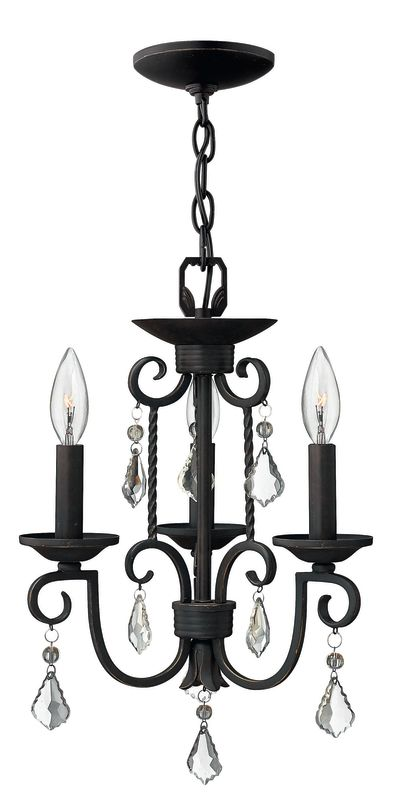 Hinkley Lighting H3503 Casa 3 Light 1 Tier Candle Style Chandelier