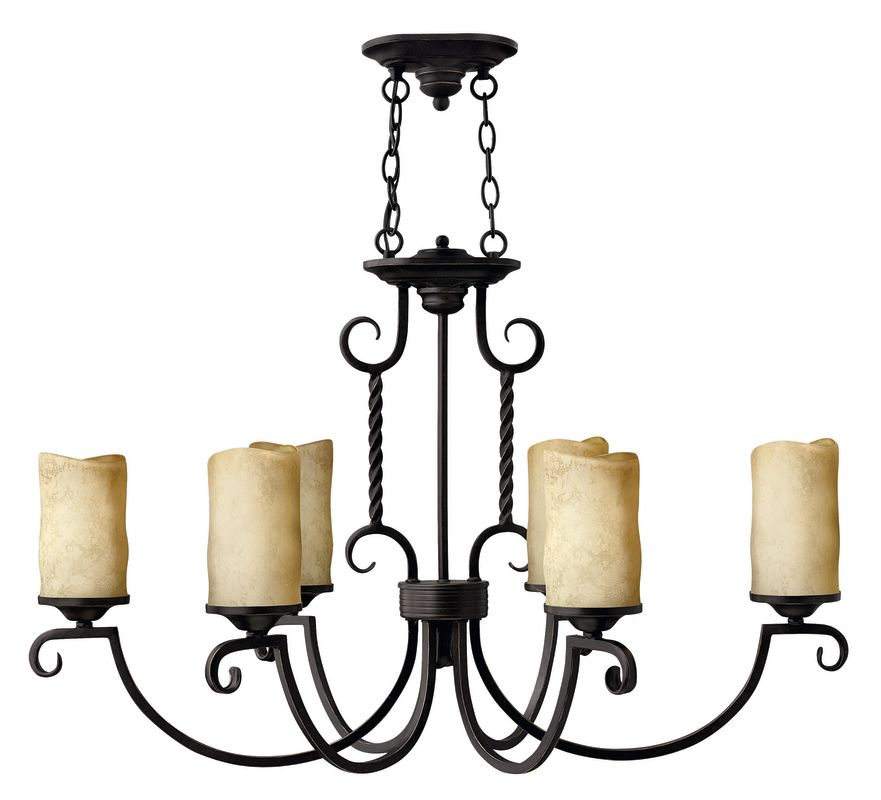 Hinkley Lighting H3508 Casa 6 Light 1 Tier Candle Style Pillar Candle