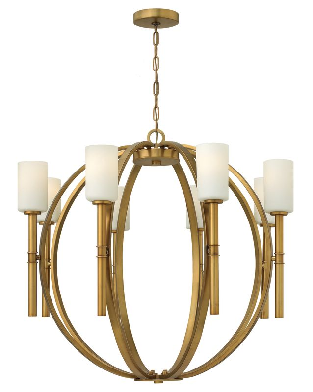 Hinkley Lighting 3588VS Vintage Brass Contemporary Margeaux Chandelier Sale $1239.00 ITEM: bci2017782 ID#:3588VS UPC: 640665358803 :
