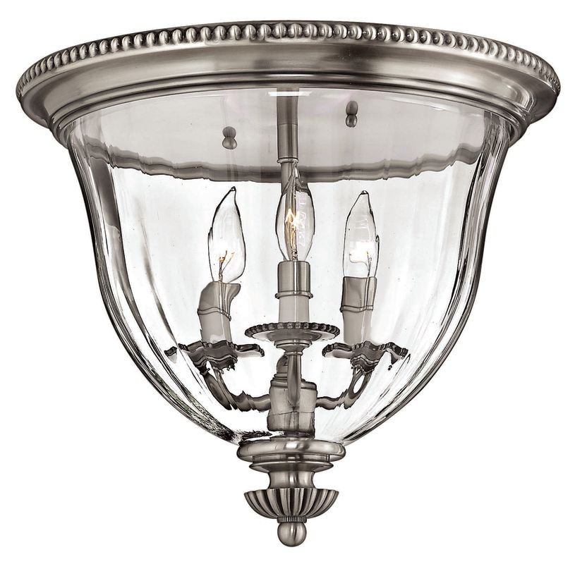 Hinkley Lighting H3612 3 Light Indoor Flush Mount Ceiling Fixture from