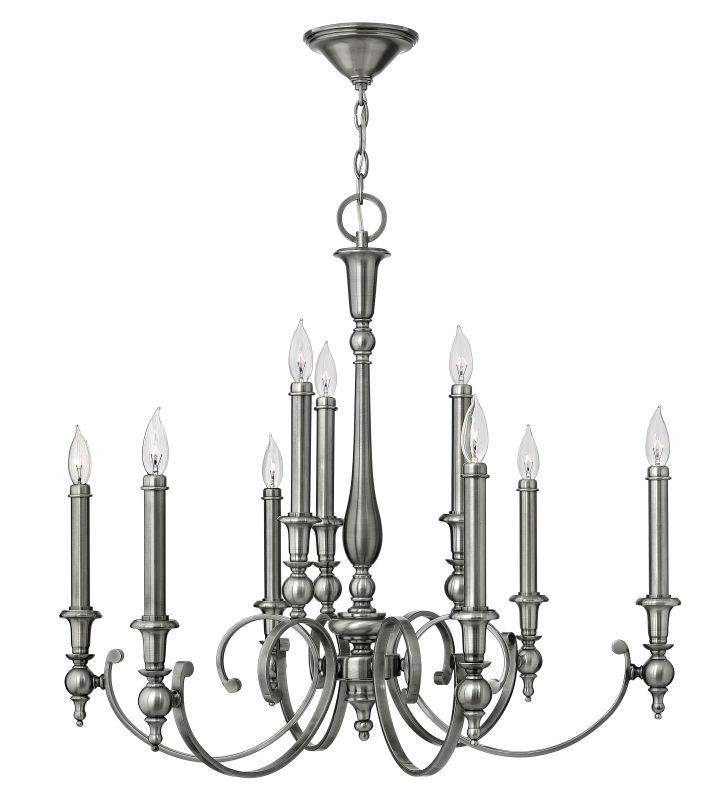 Hinkley Lighting 3628 Yorktown 9 Light 2 Tier Candle Style Chandelier