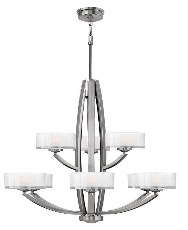 Hinkley 3878BN Brushed Nickel Contemporary Meridian Chandelier Sale $1259.00 ITEM: bci1399035 ID#:3878BN UPC: 640665387803 :