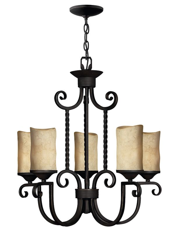 Hinkley Lighting H4015 Casa 5 Light 1 Tier Candle Style Pillar Candle
