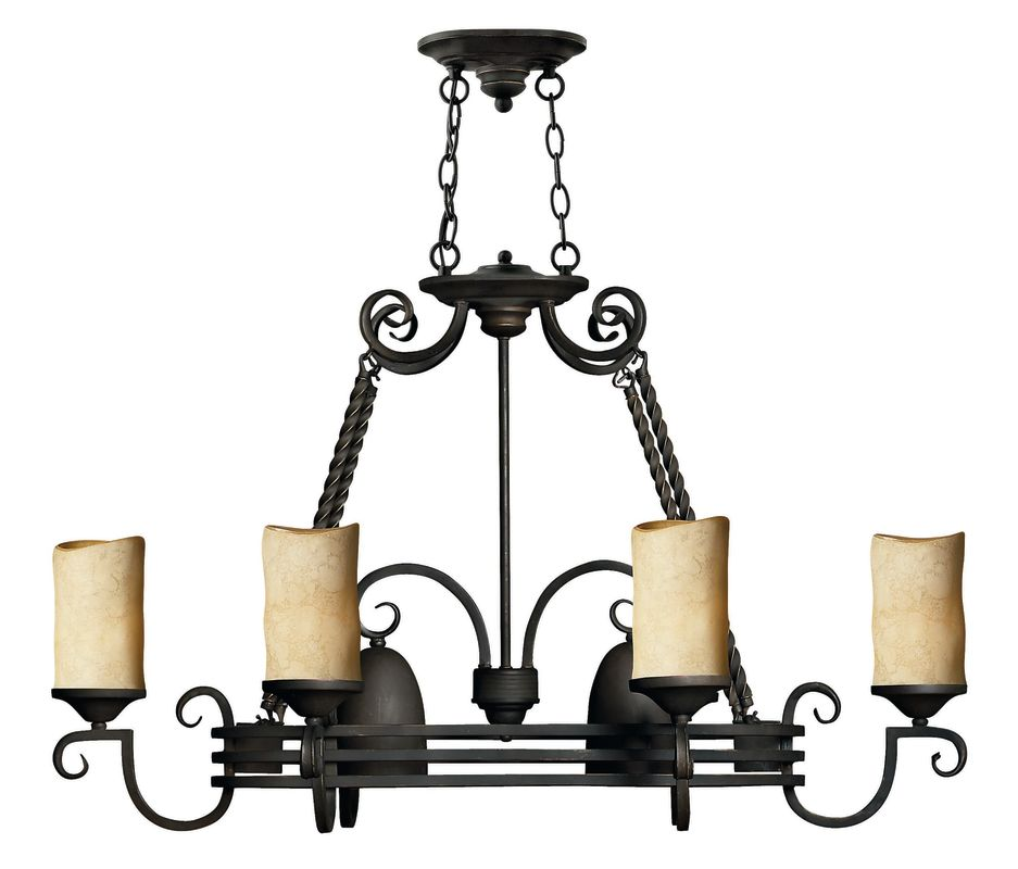 Hinkley Lighting 8 Light Pot Rack Chandelier in Olde Black 4016OL