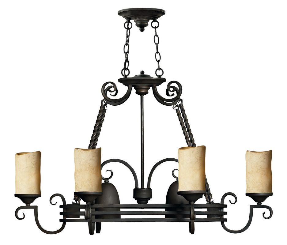Hinkley Lighting 8 Light Pot Rack Chandelier in Olde Black 4016OL