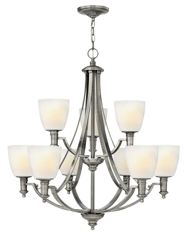 Hinkley Lighting 4028 Truman 9 Light 2 Tier Chandelier Antique Nickel Sale $1159.00 ITEM: bci1883685 ID#:4028AN UPC: 640665402803 :