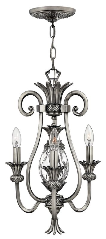 Hinkley Lighting H4103 Plantation 3 Light 1 Tier Mini Chandelier