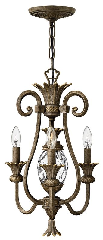 Hinkley Lighting H4103 Plantation 3 Light 1 Tier Mini Chandelier Pearl Sale $339.00 ITEM: bci560910 ID#:4103PZ UPC: 640665410310 :