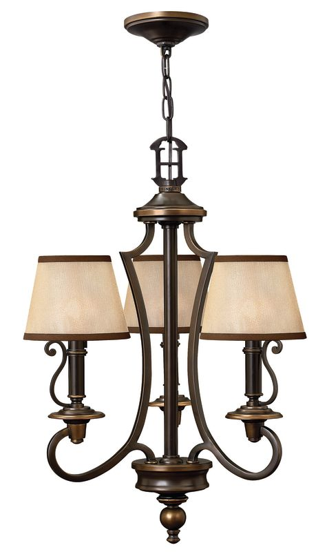 Hinkley Lighting H4243 Plymouth 3 Light 1 Tier Mini Chandelier Olde