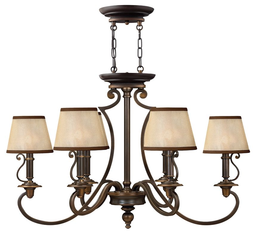 "Hinkley Lighting H4245 Plymouth 22.5"" Height 6 Light Single Tier"