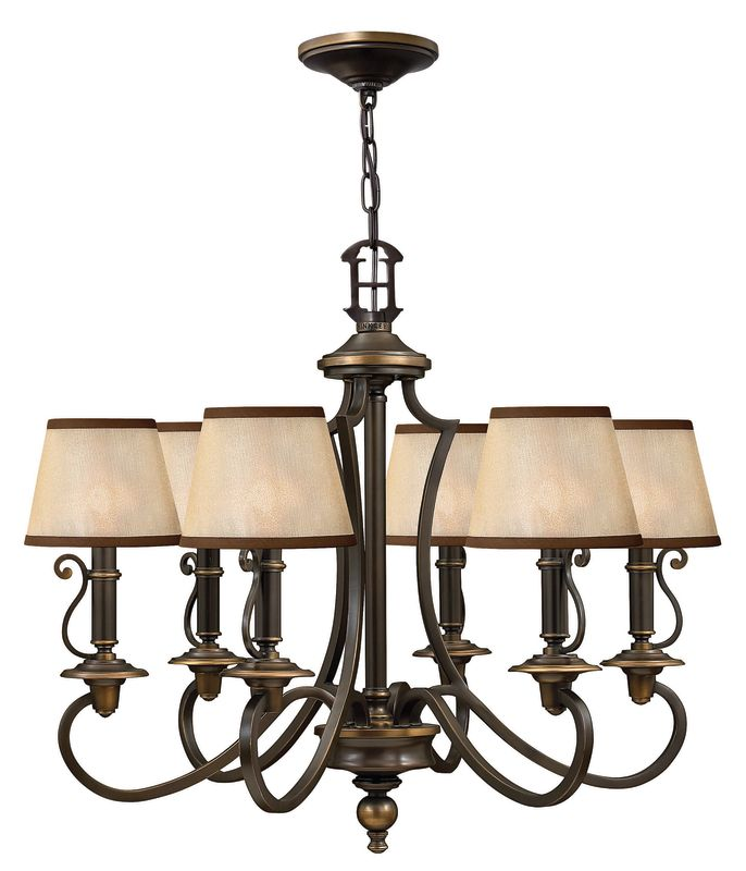 "Hinkley Lighting H4246 Plymouth 24.25"" Height 6 Light 1 Tier"