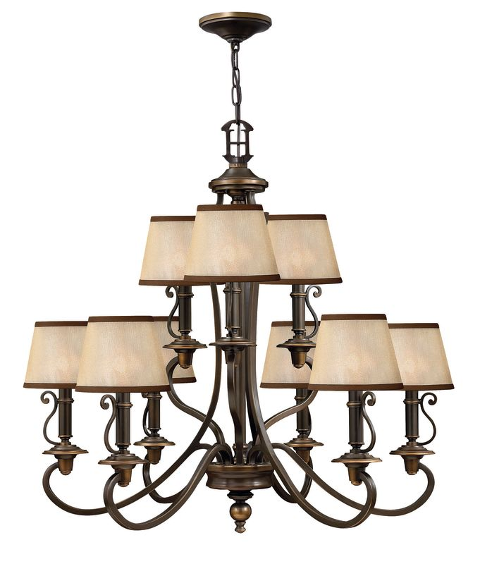 "Hinkley Lighting H4248 Plymouth 31"" Height 9 Light 2 Tier Chandelier"