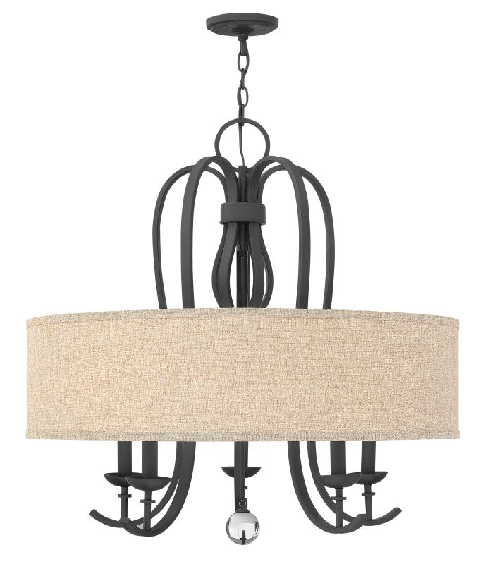 Hinkley Lighting 4473 Marion 5 Light 1 Tier Drum Chandelier Textured
