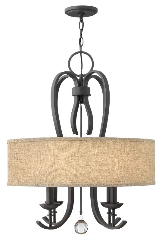 Hinkley Lighting 4474 Marion 4 Light 1 Tier Drum Chandelier Textured