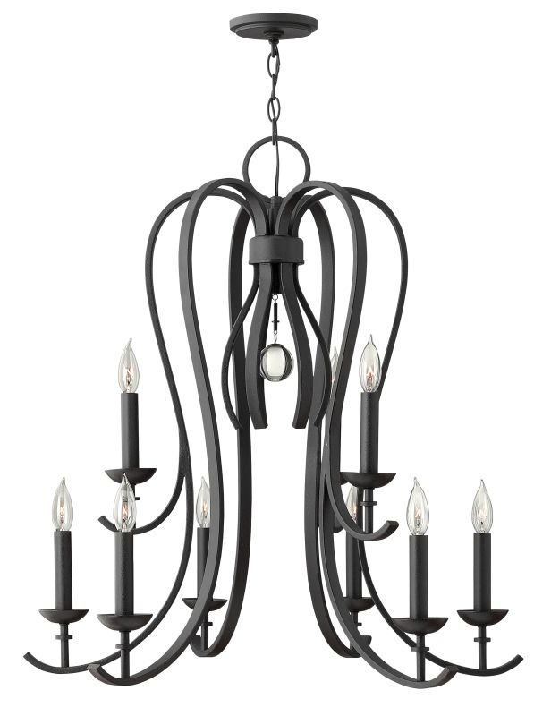 Hinkley Lighting 4478 Marion 9 Light 1 Tier Candle Style Chandelier