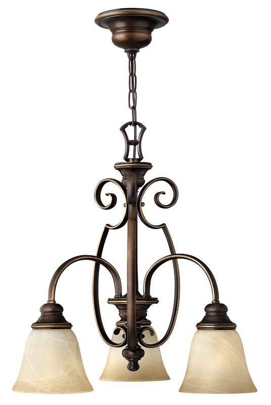 Hinkley Lighting H4563 Cello 3 Light 1 Tier Mini Chandelier Antique Sale $279.00 ITEM: bci561415 ID#:4563AT UPC: 640665456301 :