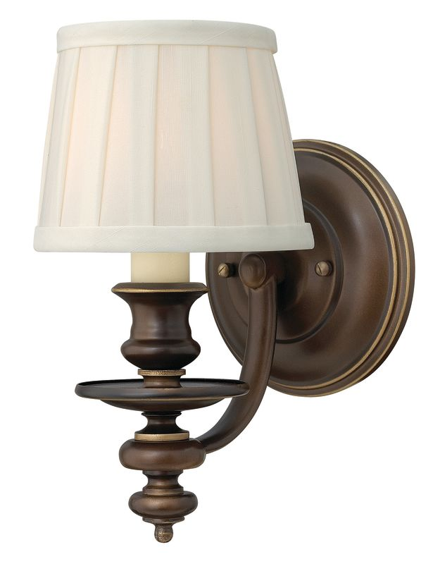 Indoor Wall Sconces Bronze : Hinkley Lighting 4590RY Royal Bronze 1 Light Indoor Wall Sconce from the Dunhill Collection ...