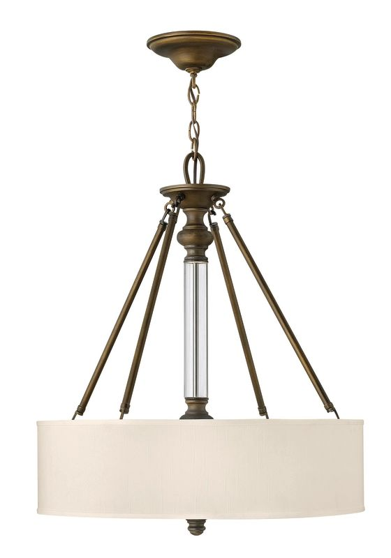 "Hinkley Lighting 4794EZ 3 Light 26.75"" Height Indoor Drum Pendant from"
