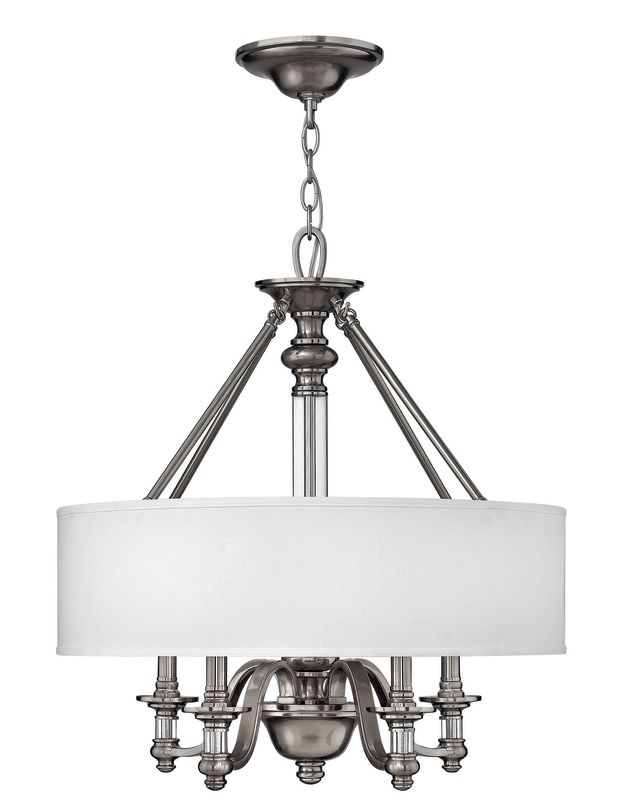 Hinkley Lighting H4797 Sussex 4 Light 1 Tier Drum Chandelier Brushed