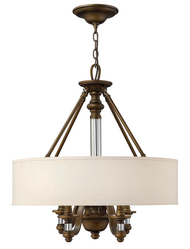 Hinkley Lighting 4797 Sussex 24&quote Height 4 Light 1 Tier Drum Chandelier