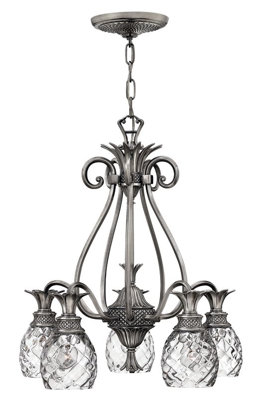 Hinkley Lighting H4885 Plantation 5 Light 1 Tier Chandelier Polished