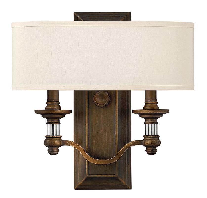 """Hinkley Lighting 4900 2 Light ADA Compliant 14"""" Height Indoor Double"""