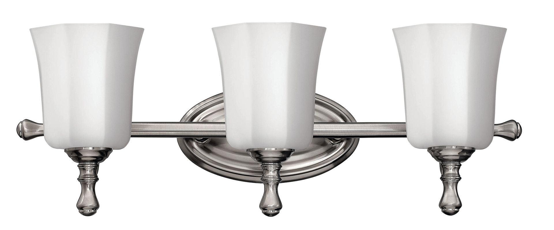 "Progress Lighting Lucky Collection 4 Light Brushed Nickel: Hinkley Lighting 5013BN Brushed Nickel 3 Light 24"" Width"