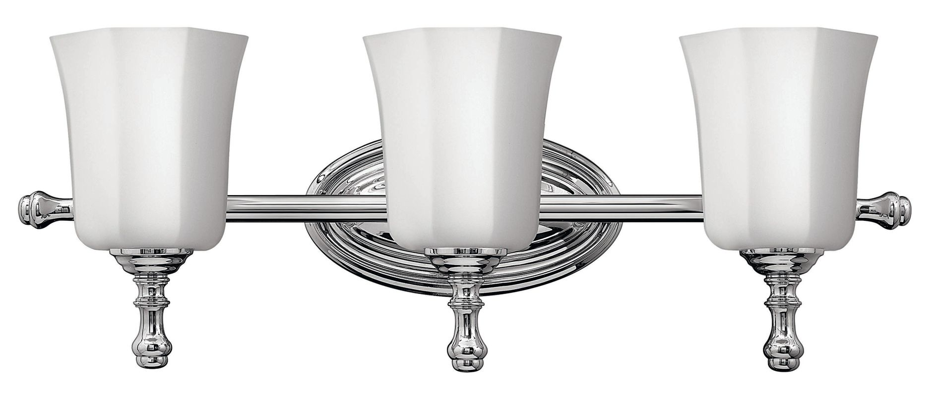 Hinkley lighting 5013cm chrome 3 light 24 width bathroom for Hinkley bathroom vanity lighting