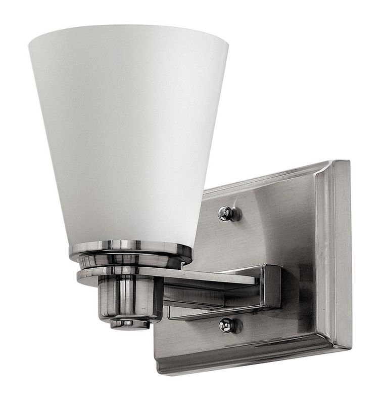 Hinkley Lighting 5550 1 Light Bathroom Sconce from the Avon Collection Sale $89.00 ITEM: bci1056269 ID#:5550BN UPC: 640665555004 :
