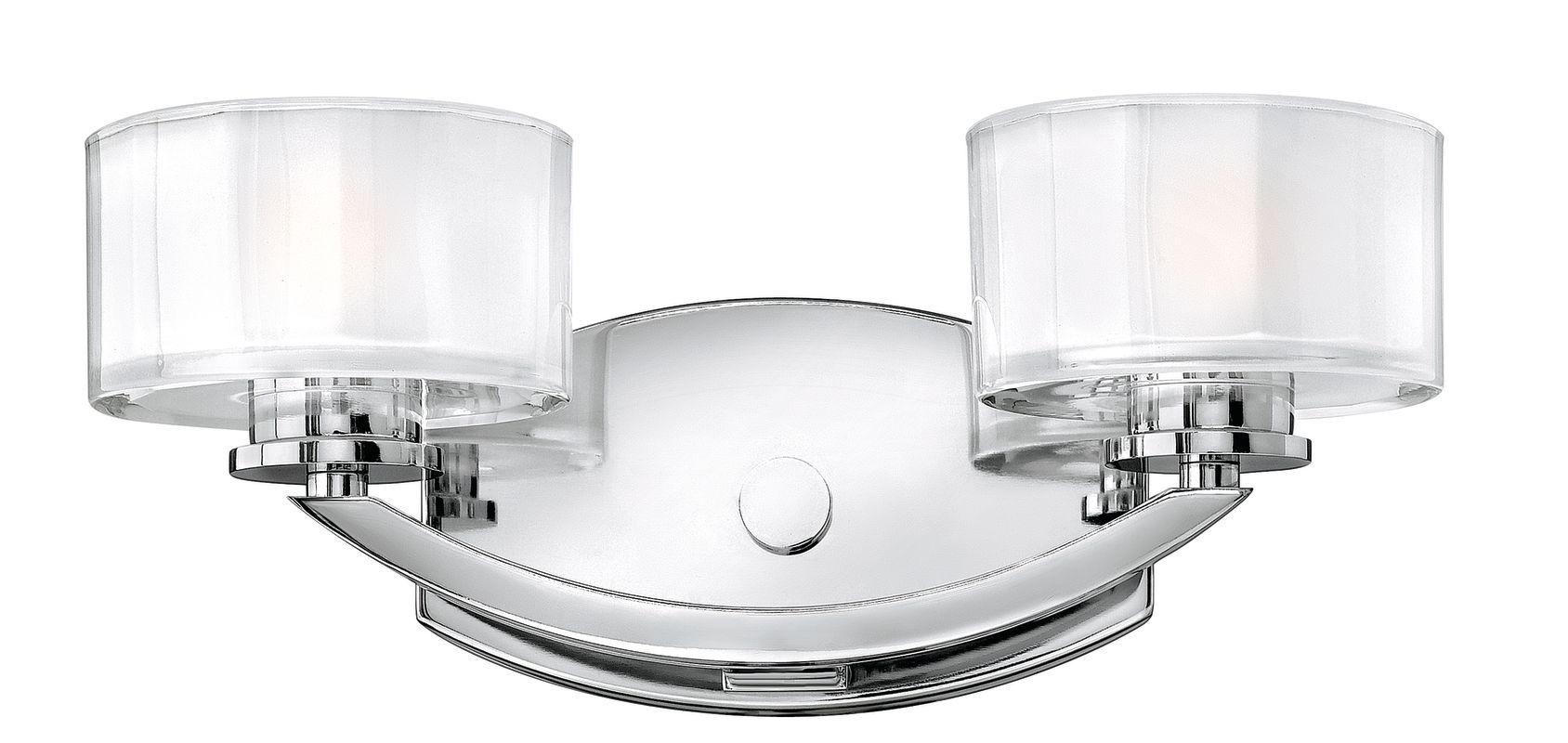 Hinkley Lighting 5592CM Chrome Contemporary Meridian Bathroom Light