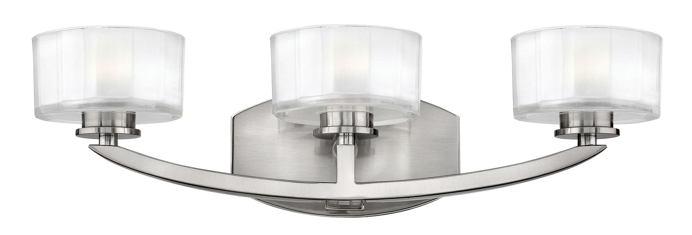 Hinkley 5593BN Brushed Nickel Contemporary Meridian Bathroom Light