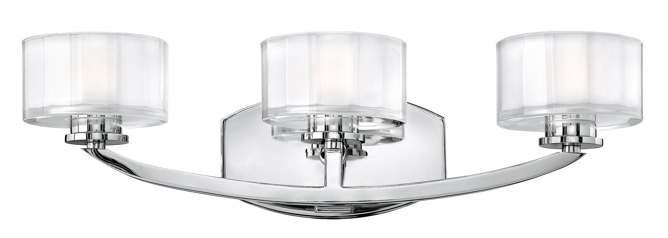 "Shop Progress Lighting 3 Light Archie Chrome Bathroom: Hinkley Lighting 5593CM Chrome 3 Light 21"" Width Bathroom"