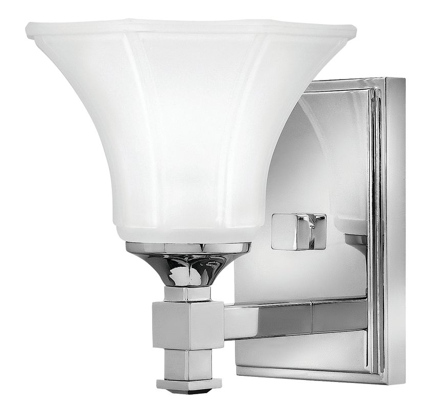 Hinkley Bathroom Wall Sconces : Hinkley Lighting 5850CM Chrome 1 Light 6.75