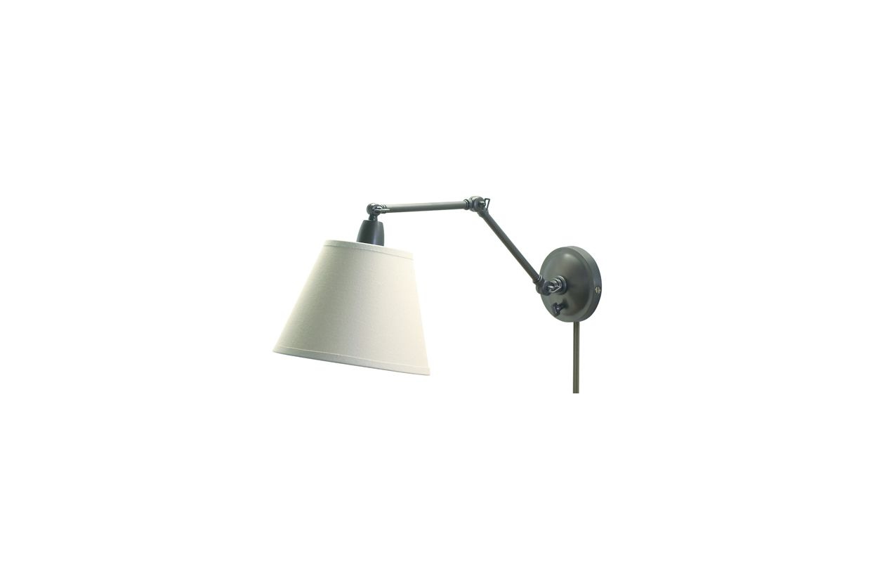 Plug In Library Wall Sconces : House Of Troy PL20-OB Oil Rubbed Bronze Library 1 Light Plug In Wall Sconce - LightingDirect.com