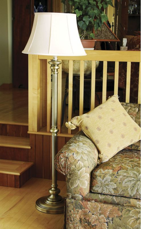 House of Troy N601 Floor Lamp from the Newport Collection Antique