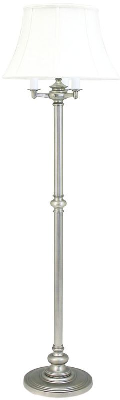 House of Troy N-603 Floor Lamp with Off-White Shade Pewter Lamps Sale $398.00 ITEM: bci352967 ID#:N603-PTR UPC: 753174046304 :