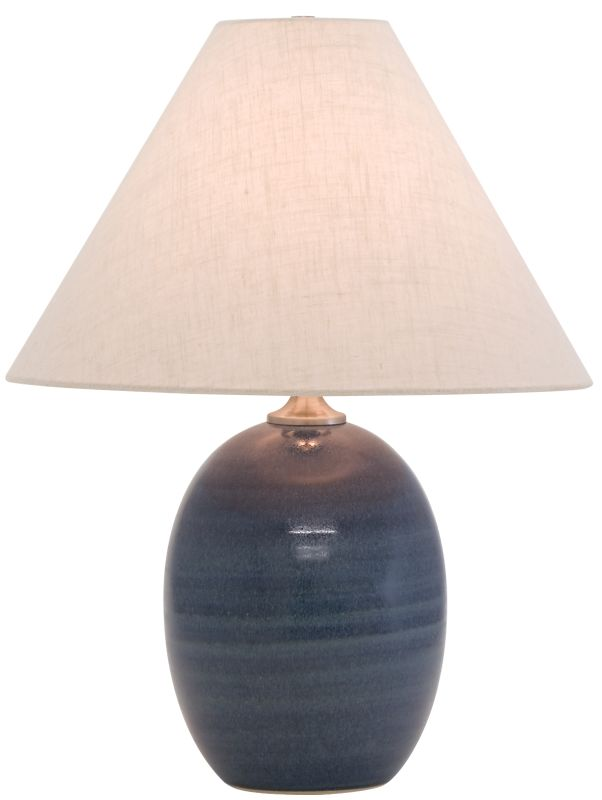 """House of Troy GS140 Scatchard 22.5"""" 1 Light Table Lamp with Linen"""
