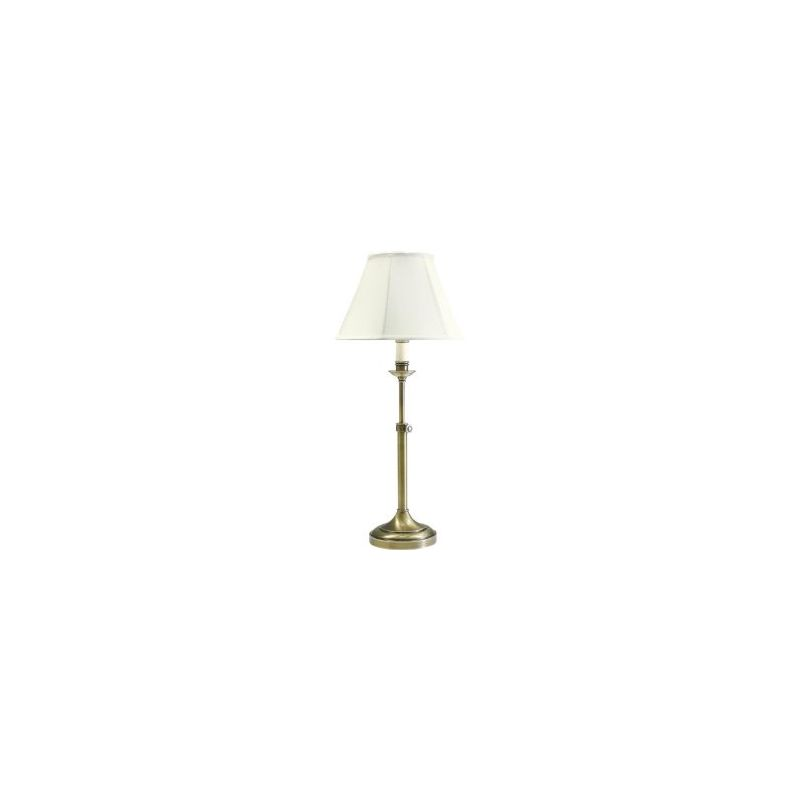 House of Troy CL250 Club 1 Light Table Lamp with Adjustable Height
