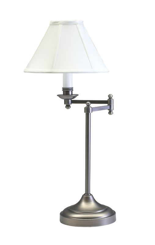 House of Troy CL251 Club 1 Light Swing Arm Table Lamp with Bell Shade