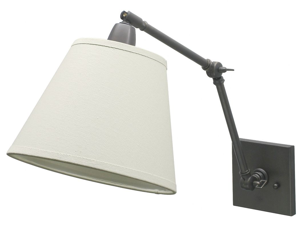 House of Troy DL20 Library 1 Light Swing Arm Wall Sconce with Tapered