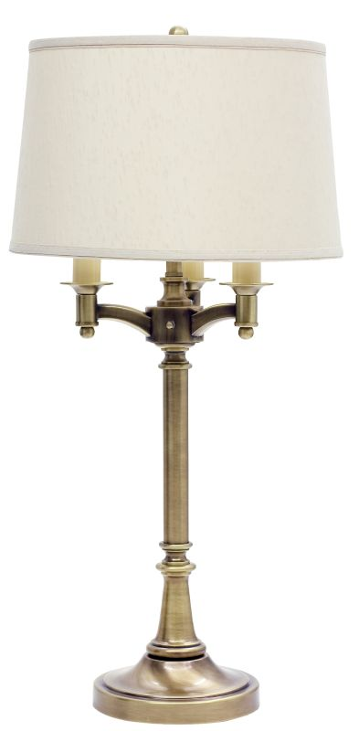 House of Troy L850 Lancaster Six Way Table Lamp Antique Brass Lamps