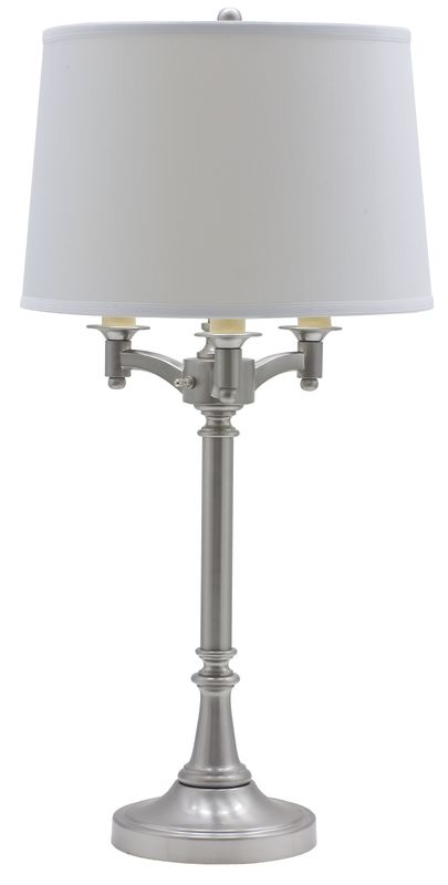 House of Troy L850 Lancaster Six Way Table Lamp Satin Nickel Lamps