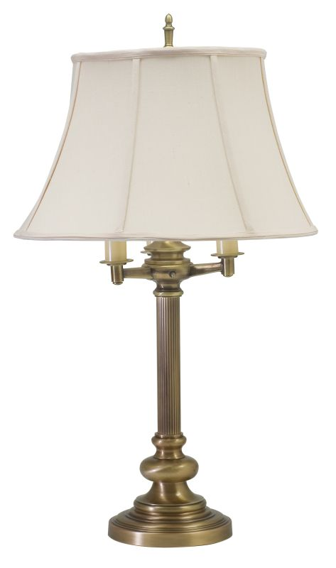 House of Troy N650 Newport 4 Light Table Lamp with Off-White Shade