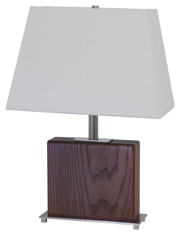 """House of Troy VH250A VT Hardwood Caramelized Ash 22"""" Table Lamp with 1"""