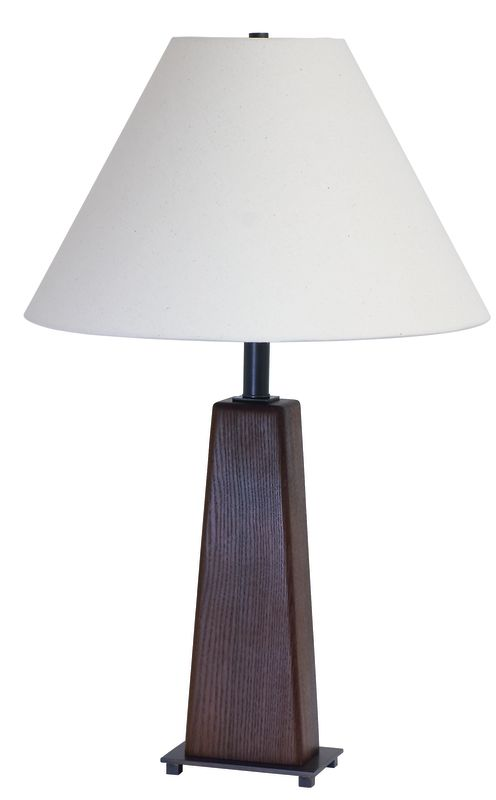 "House of Troy VH255A VT Hardwood Caramelized Ash 28"" Table Lamp with 1"