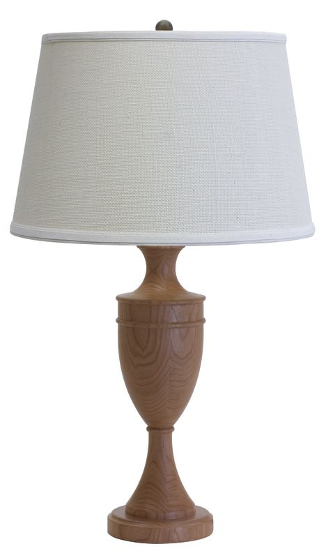 "House of Troy VH350 VT Hardwood 25"" Turned Table Lamp with 1 Light"