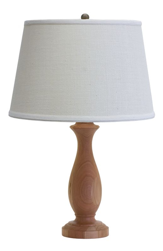 "House of Troy VH352 VT Hardwood 25"" Turned Table Lamp with 1 Light"