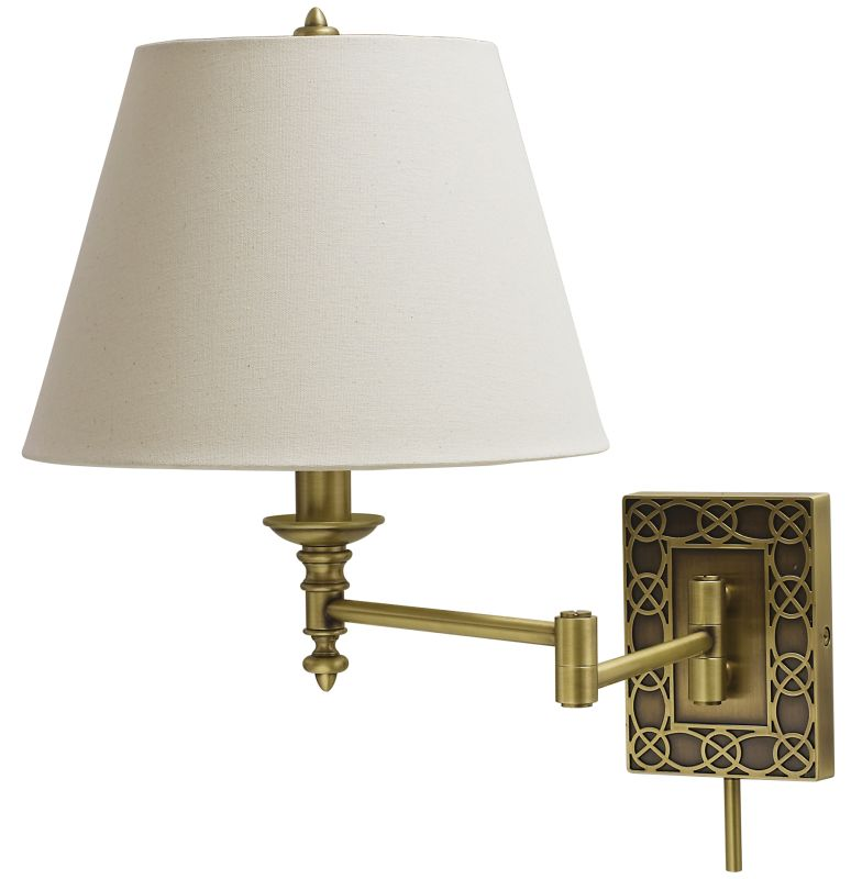House of Troy WS763 Decorative 1 Light Swing Arm Wall Sconce with Sale $198.00 ITEM: bci1961726 ID#:WS763-AB UPC: 753174055238 :